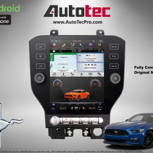Ford Mustang (2015 – 2020) 10.4″ IPS HD Touch-Screen Android Navigation System | GPS | BT | Wifi | Camera | SYNC