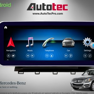 Mercedes-Benz GLK (2008-2012 | X204) Direct-Fit 10.25″ HD IPS Touch-Screen Android Navigation | BT | CarPlay | Camera