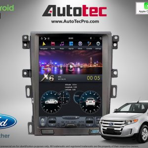 Ford Edge (2011 – 2014) 12.1″ IPS HD Touch-Screen Android Navigation System | GPS | BT | WiFi | Camera | CarPlay
