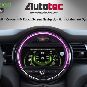 Mini Cooper (2015 – 2017) OEM FIT 9″ HD Touch-Screen Android Navigation System | GPS | BT | Wifi | Camera | CarPlay