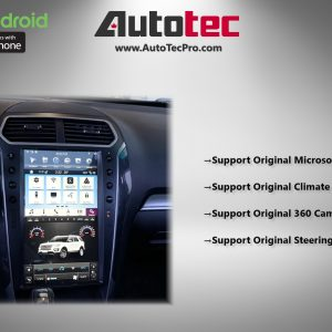 Ford Explorer (2011 – 2019) 13.6″ IPS HD Touch-Screen Android Navigation System | GPS | BT | Wifi | SYNC | CarPlay