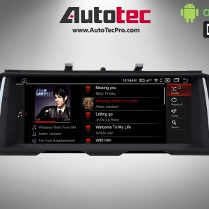 BMW 5 Series (2011 – 2018) F10 F11 OEM-FIT 10.25″ / 12.3″ HD Touch-Screen Android Navigation System | GPS | BT | Wifi | LTE | CarPlay