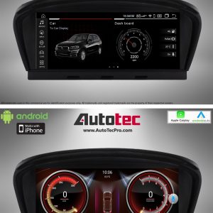 BMW 3 Series (2006 – 2012)  E90 / E91 / E92 OEM FIT 8.8″ HD Touch-Screen Android Navigation System | GPS | BT | Wifi | Camera | CarPlay