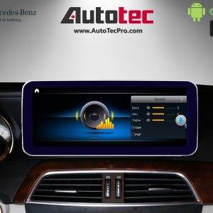 Mercedes-Benz C-Class (2012-2014   W204) Direct-Fit 10.25″ HD Touch-Screen Android Navigation System   GPS   BT   Wifi   A2DP   4G LTE