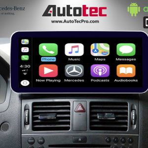 Mercedes-Benz C-Class (2008-2011 | W204) Direct-Fit 10.25″ HD IPS Touch-Screen Android Navigation System | GPS | BT | Wifi | A2DP | 4G LTE | CarPlay