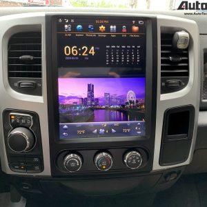 Dodge RAM (2013 – 2018) 12.1″ PX6 HD Tesla-Style Navigation & Infotainment System  | HD | GPS | BT | Wifi | CarPlay | Android Auto