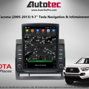 Toyota Tacoma (2005 – 2013) 9.7″ Tesla Style HD Touch-Screen Android Navigation System | GPS | BT | WiFi | Camera | CarPlay